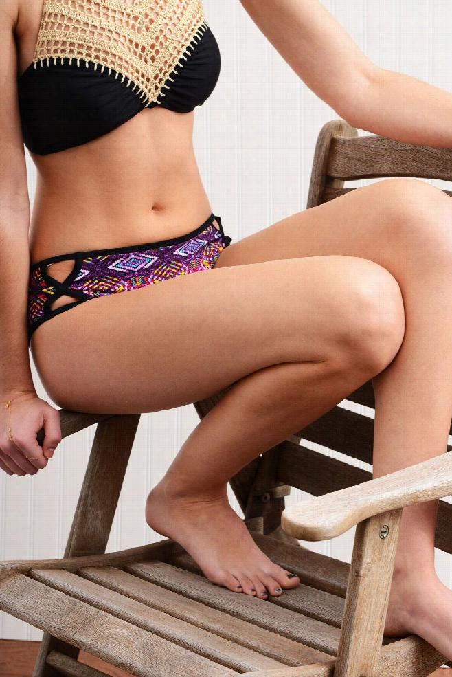 Bikini Lab Bright Album Cutout Brief Hipster Bikini Bottoms