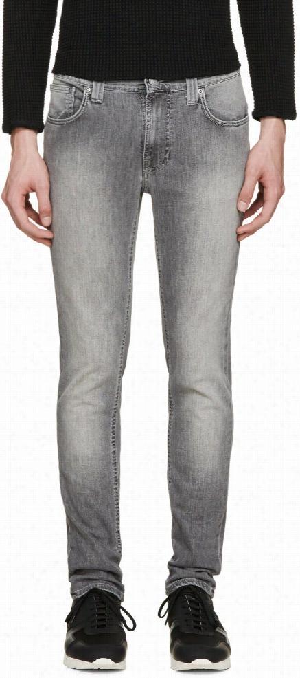 Nudie Jeans Grey Thin Finn Jeans