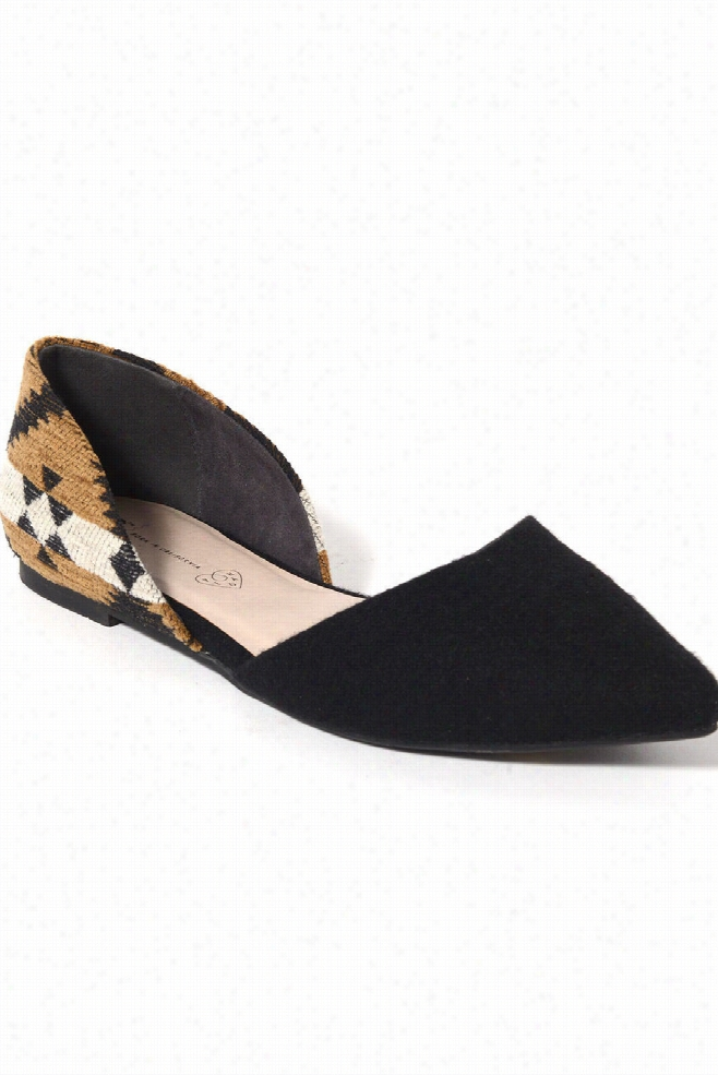 BC Footwear Society Pointy Toe Blanket Flats