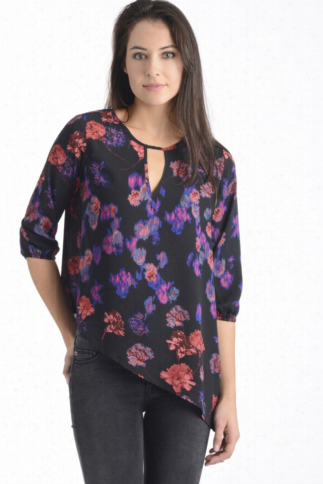 Collective Concepts Floral Asymmetrical Blouse