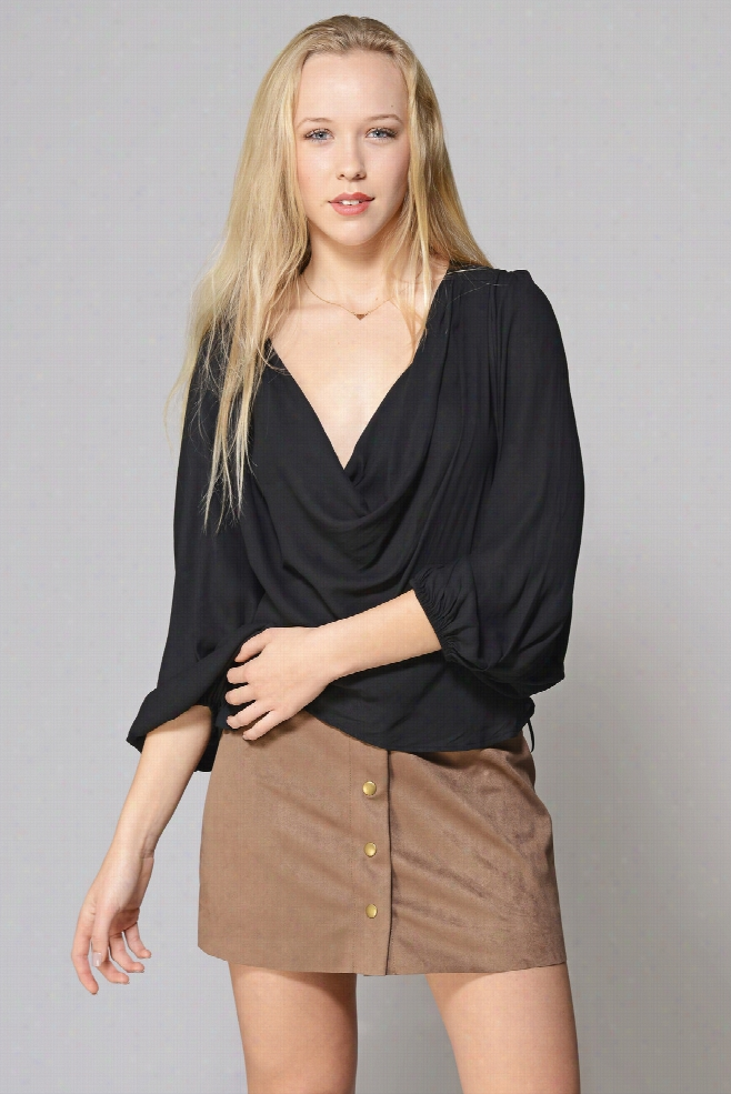 Free People Cowl Neck Blouse