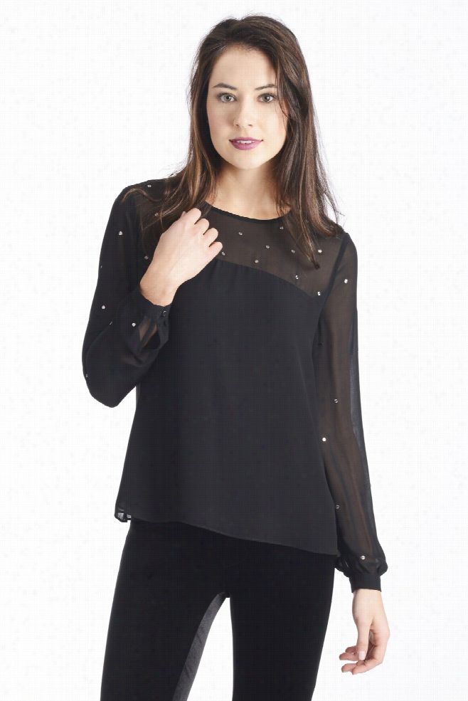 French Connection Artic Spell Metallic Dot Blouse