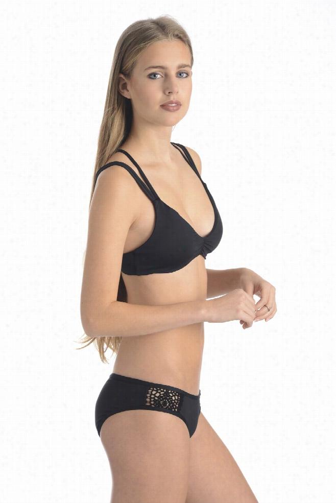 Lucky Brand Natural Fever Crochet Bikini