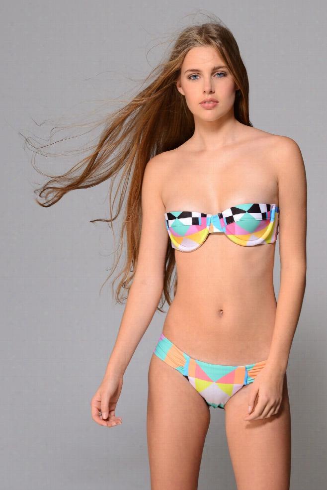 Mara Hoffman Aqua Diamond U-Wire Bustier Bikini Top