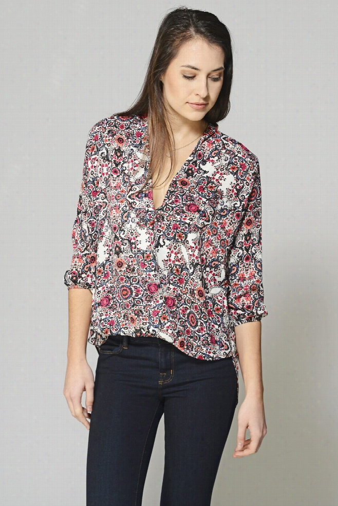 Two Arrows Tapestry Surplice Blouse