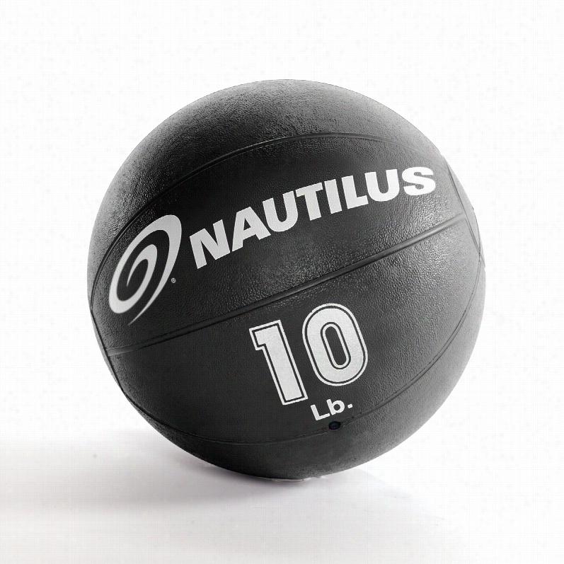Nautilus 10 lb. Medicine Ball, Weight: Nautilus 10 lb. Medicine Ball, Nautilus Medicine Balls - 10 lb, Black