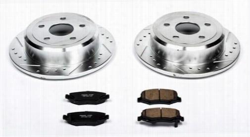 Power Stop Performance 1-Click Rear Brake Kit with Z23 Sport Brake Pads K3090 Disc Brake Pad and Rotor Kits