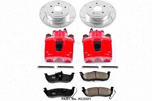 Power Stop Z23 Evolution Sport Rear Brake Kit with Calipers KC2221 Disc Brake Calipers, Pads and Rotor Kits