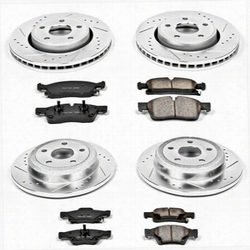Power Stop Performance 1-Click Brake Kit with Z23 Evolution Sport Brake Pads K5952 Disc Brake Pad and Rotor Kits