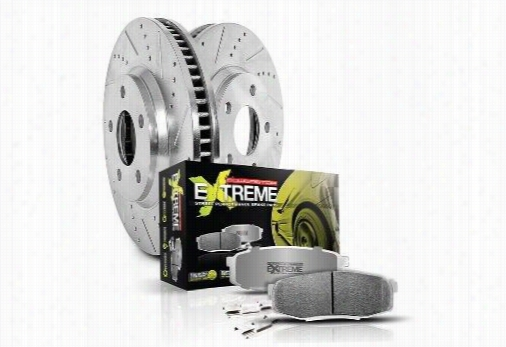 Power Stop Z26 Street Warrior Rear Brake Kit K5956-26 Disc Brake Pad and Rotor Kits