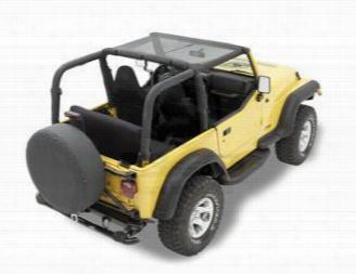 Bestop Header Style Jeep Wrangler Bikini Top in Mesh 52528-11