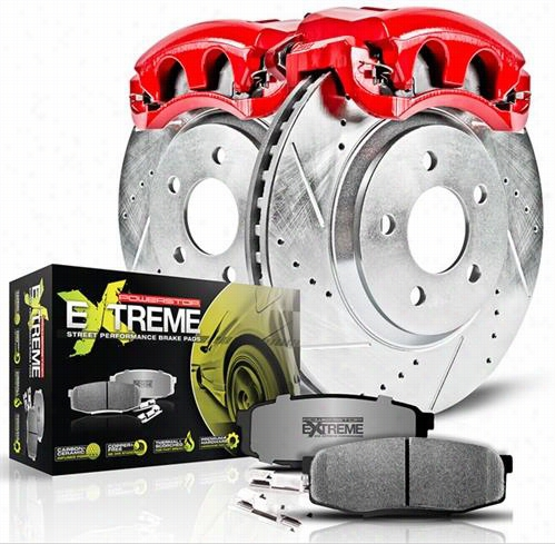 Power Stop Z26 Street Warrior Front Brake Kit KC2147-26 Disc Brake Calipers, Pads and Rotor Kits