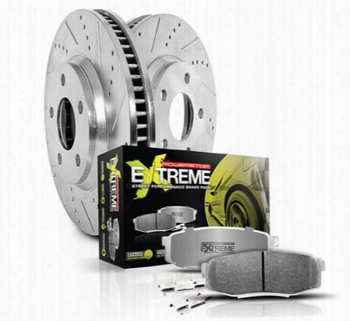 Power Stop Performance 1-Click Front Brake Kit with Z26 Warrior Brake Pads K2149-26 Disc Brake Pad and Rotor Kits