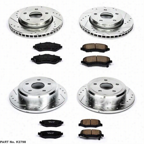 Power Stop Performance 1-Click Brake Kit with Z23 Sport Brake Pads K2798 Disc Brake Pad and Rotor Kits