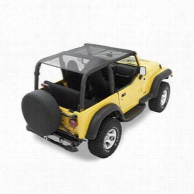 Bestop Header Safari Style Jeep Wrangler Bikini Top in Mesh 52532-11