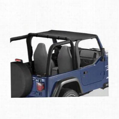 Bestop Header Style Jeep Wrangler Bikini Top in Black Denim 52525-15
