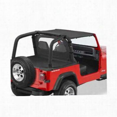 Bestop Strapless Style Jeep Bikini Top in Black Denim 52519-15, YJ
