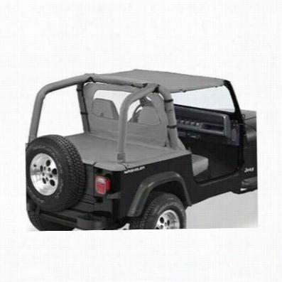 Bestop Strapless Style Jeep Bikini Top in Charcoal 52519-09, YJ