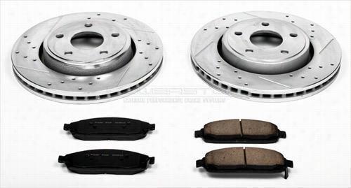 Power Stop Performance 1-Click Front Brake Kit K2219 Disc Brake Pad and Rotor Kits