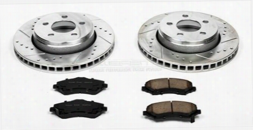 Power Stop Performance 1-Click Front Brake Kit with Z23 Evolution Sport Brake Pads K1631 Disc Brake Pad and Rotor Kits
