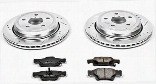 Power Stop Performance 1-Click Rear Brake Kit with Z23 Evolution Sport Pads K5953 Disc Brake Pad and Rotor Kits