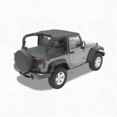 Bestop Header Style Jeep Bikini Top in Black Diamond 52580-35