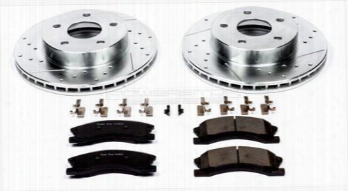 Power Stop Performance 1-Click Front Brake Kit K2149 Disc Brake Pad and Rotor Kits