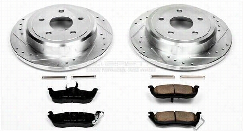 Power Stop Performance 1-Click Rear Brake Kit with Z23 Evolution Sport Brake Pads K2221 Disc Brake Pad and Rotor Kits