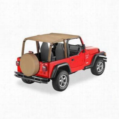 Bestop Safari Style Jeep Wrangler TJ Bikini Top in Spice 52530-37