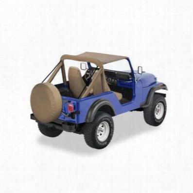 Bestop Traditional Style Bikini Top For Jeep in Tan 52507-04