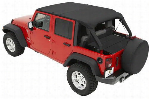 Bestop Safari Jeep Bikini Top Pre-Installed Windshield Channel Black