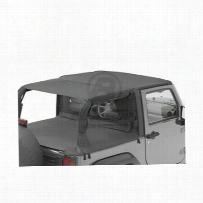 Bestop Header Safari Style Jeep Bikini Top in Black Diamond 52585-35