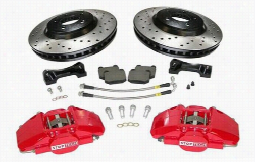 Power Slot Stoptech Big Brake Kit 82.335.6800.52 Disc Brake Calipers, Pads and Rotor Kits