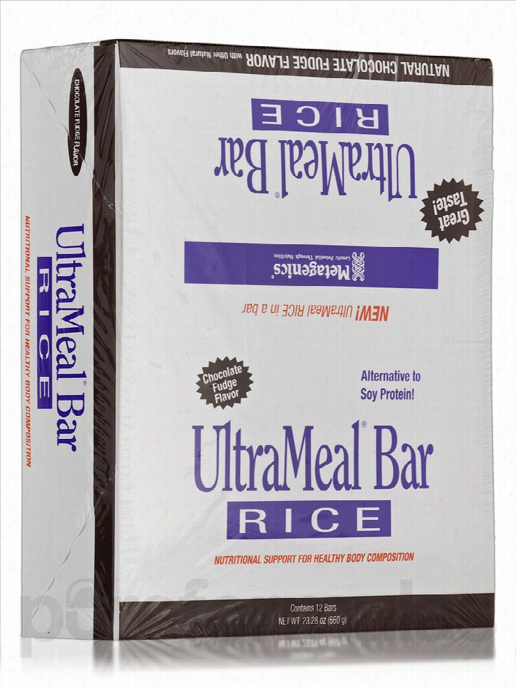 Metagenics Protein - UltraMeal Bar RICE (Natural Chocolate Fudge