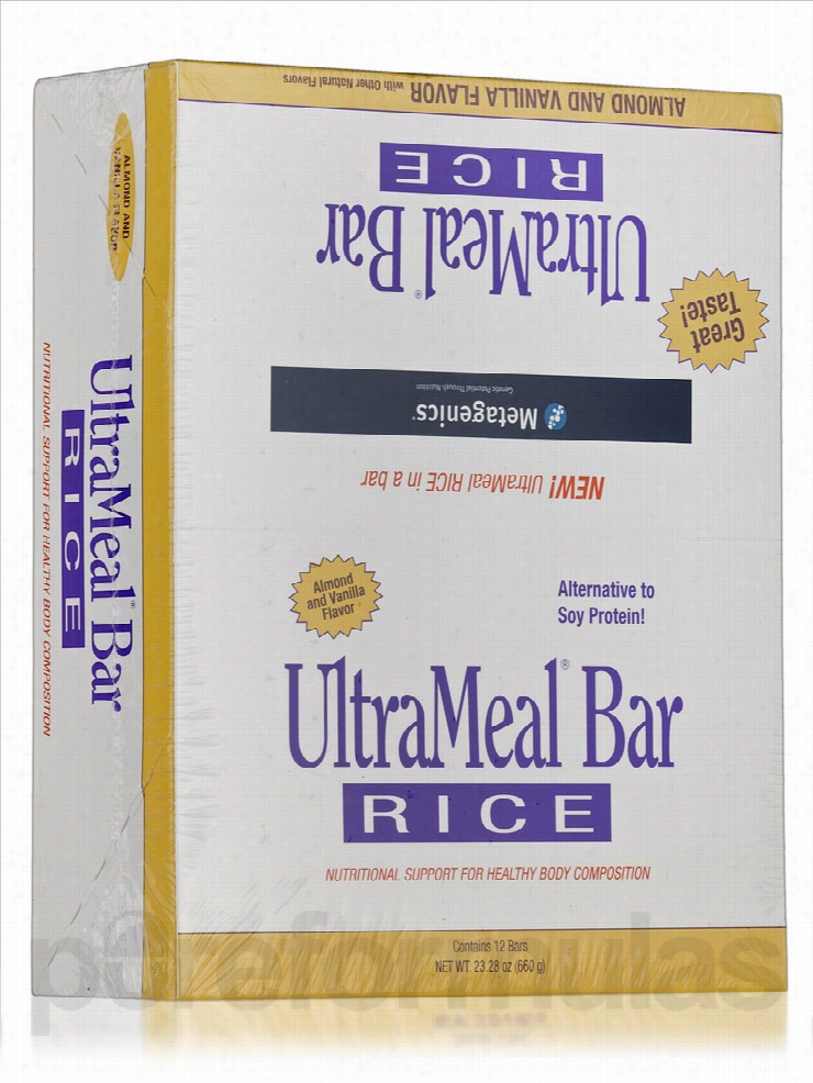 Metagenics Protein - UltraMeal Bar RICE (Natural Vanilla Almond