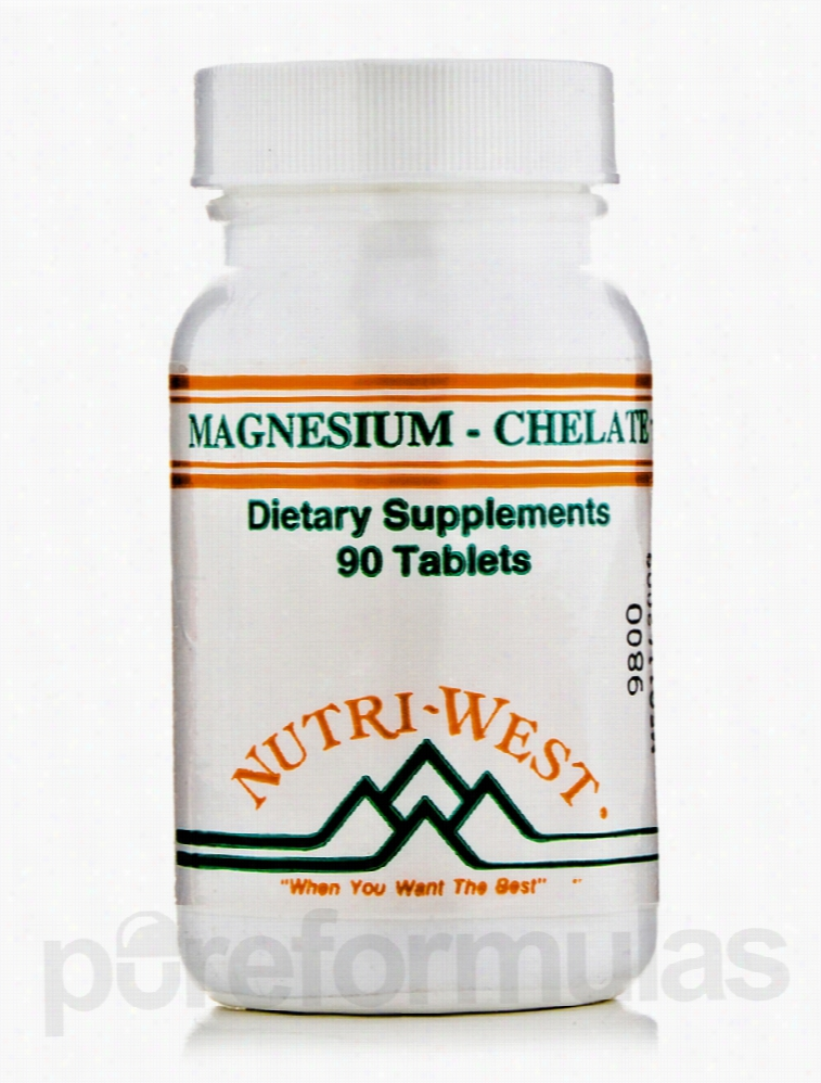 Nutri West Cardiovascular Support - Magnesium Chelate - 90 Tablets