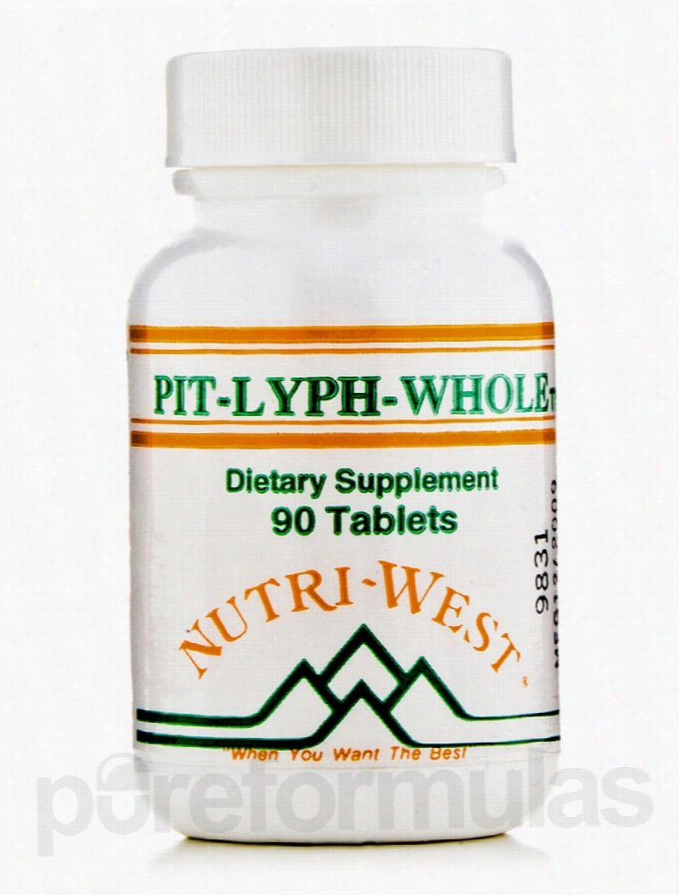Nutri West Hormone/Glandular Support - Pit-Lyph Whole - 90 Tablets