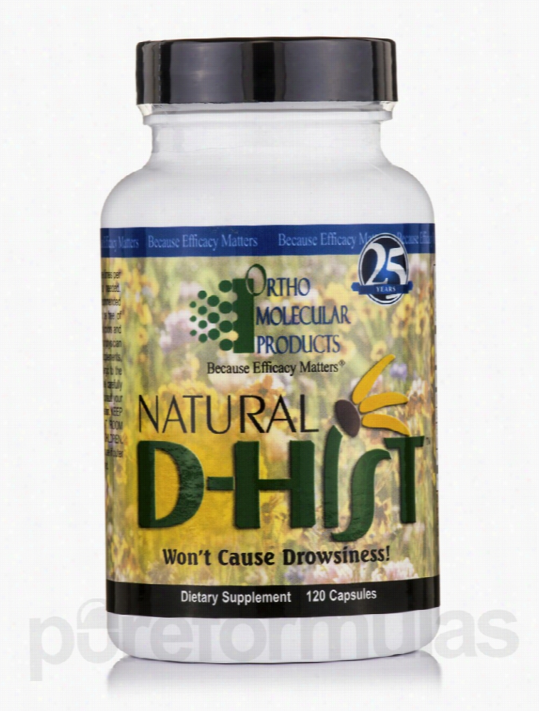 Ortho Molecular Products Allergy Relief - Natural D-Hist - 120