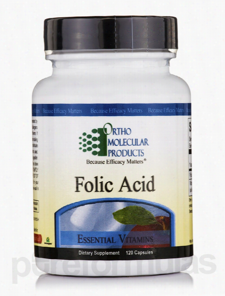 Ortho Molecular Products Cardiovascular Support - Folic Acid 5 mg -