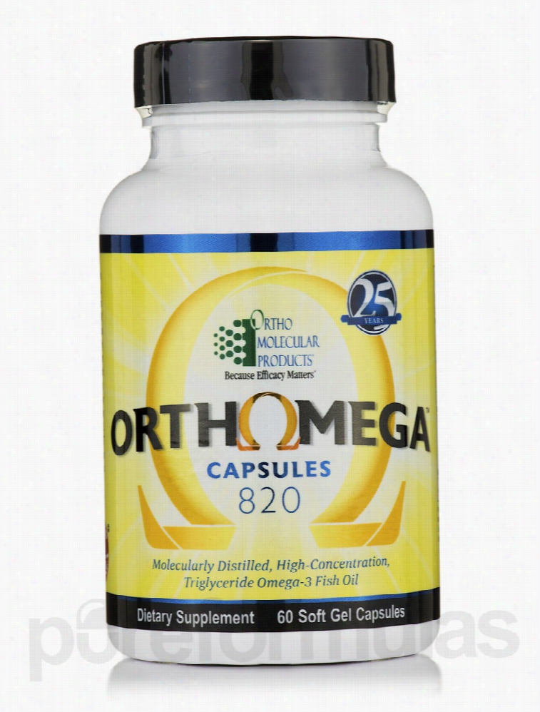Ortho Molecular Products Cardiovascular Support - Orthomega 820 - 60