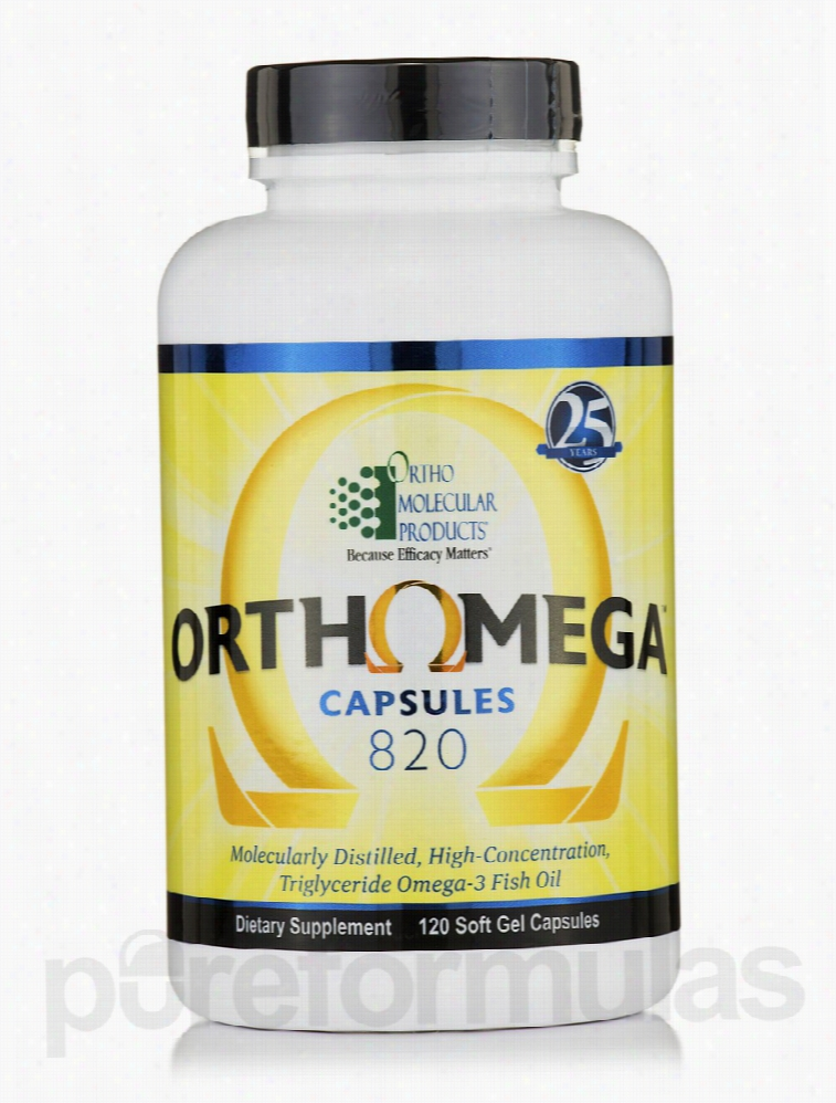 Ortho Molecular Products Cardiovascular Support - Orthomega 820 - 120