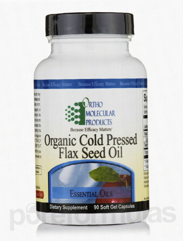 Ortho Molecular Products Essential Fatty Acids - Organic Cold Pressed