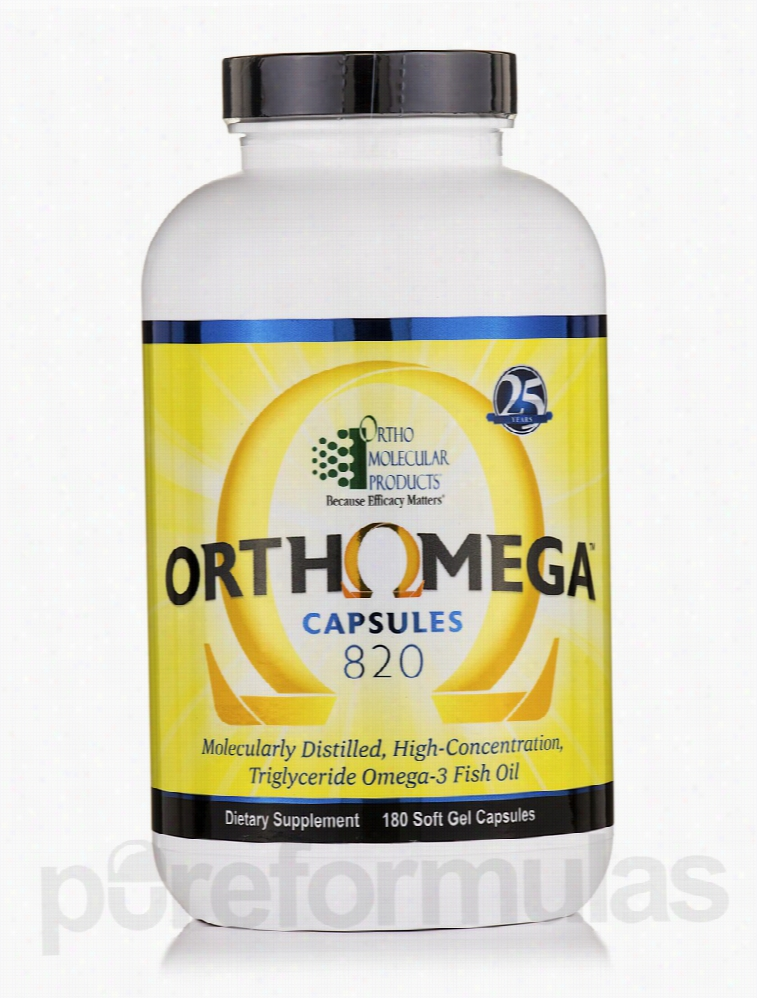 Ortho Molecular Products Essential Fatty Acids - Orthomega 820 - 180