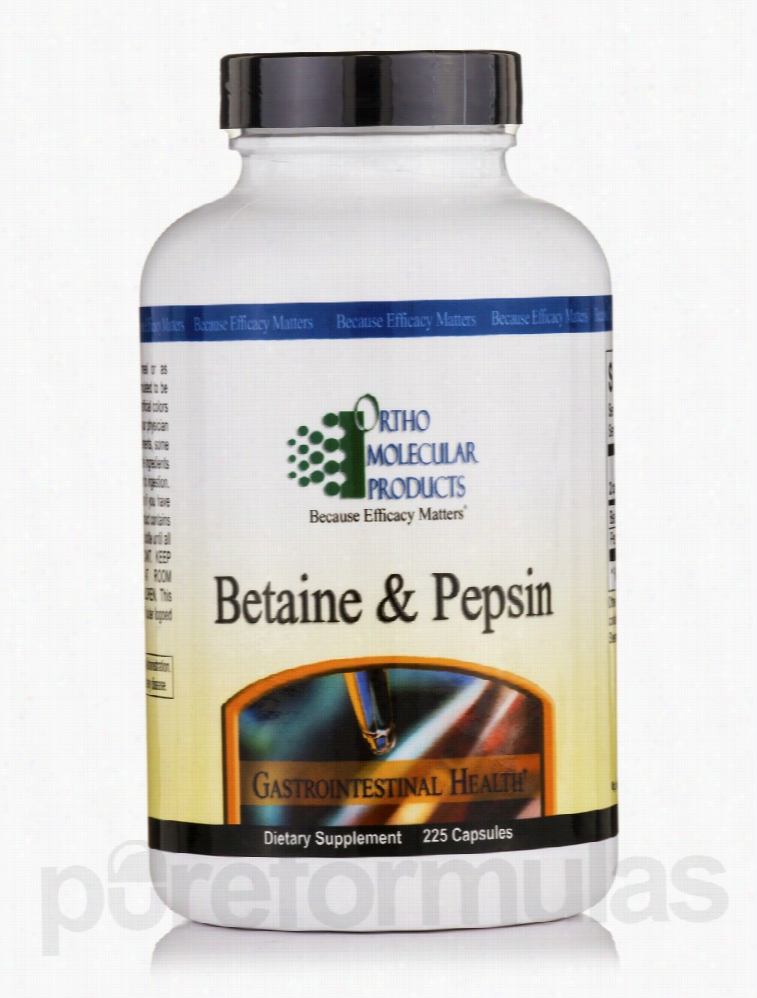 Ortho Molecular Products Gastrointestinal/Digestive - Betaine & Pepsin