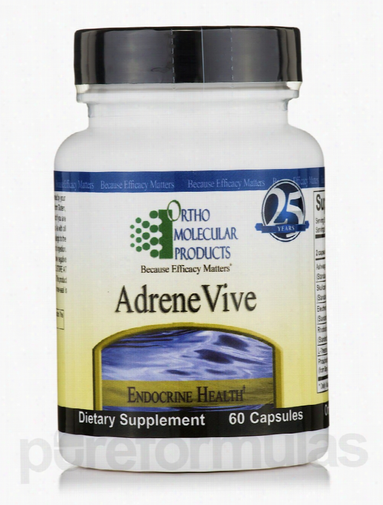 Ortho Molecular Products Hormone/Glandular Support - AdreneVive - 60