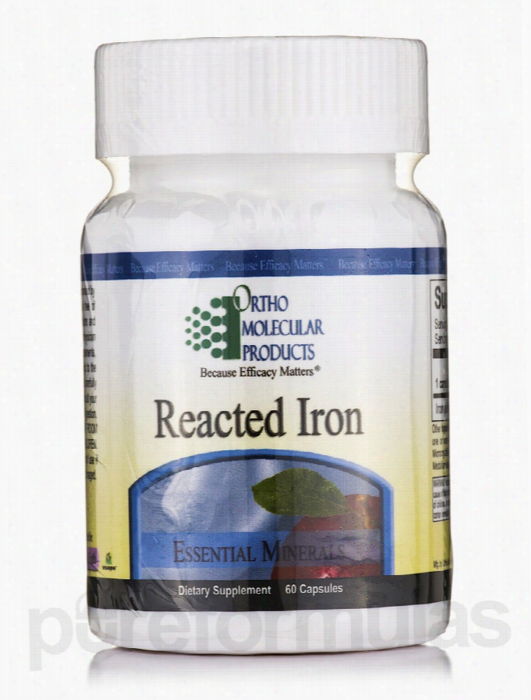 Ortho Molecular Products Minerals - Reacted Iron - 60 Capsules