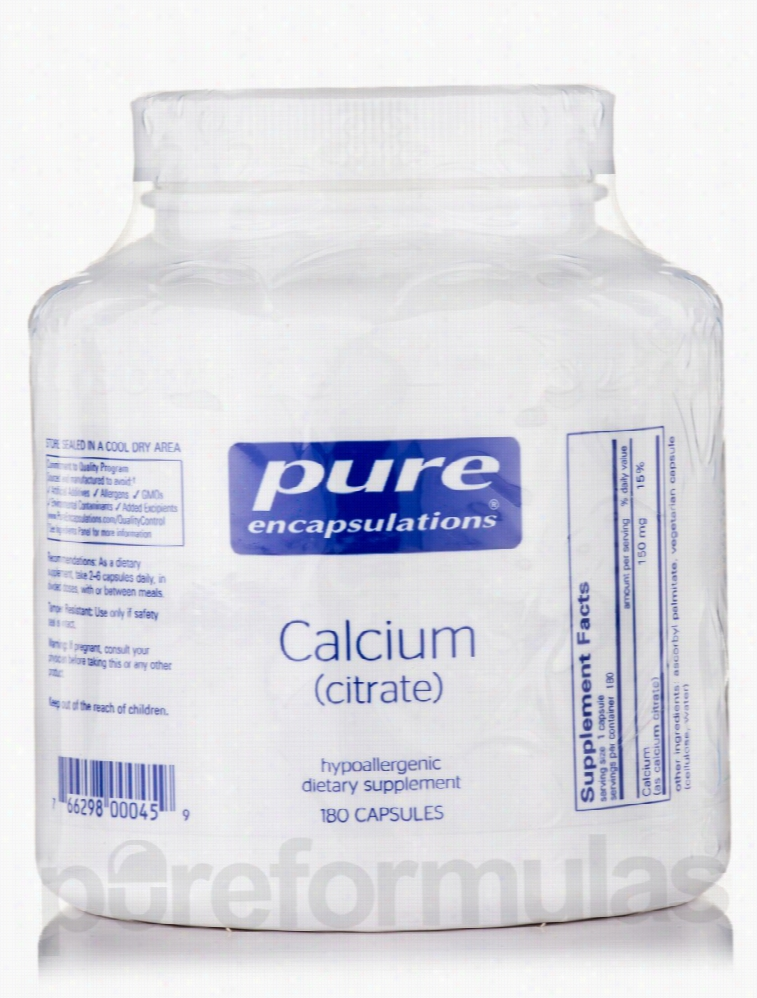 Pure Encapsulations Cardiovascular Support - Calcium (citrate) - 180