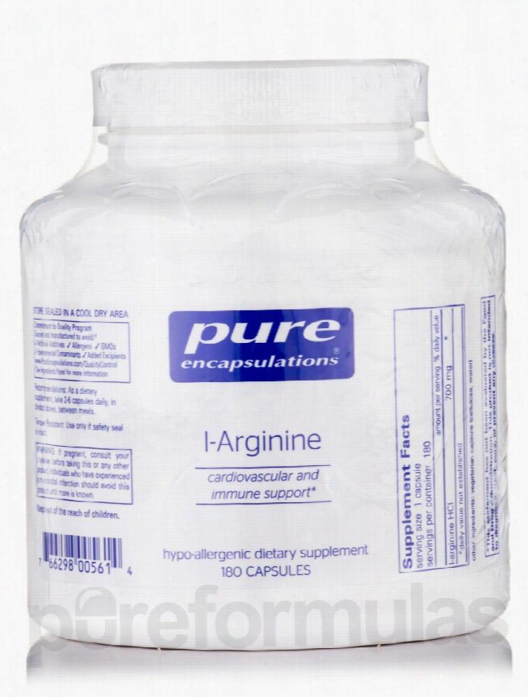 Pure Encapsulations Cardiovascular Support - l-Arginine - 180 Capsules