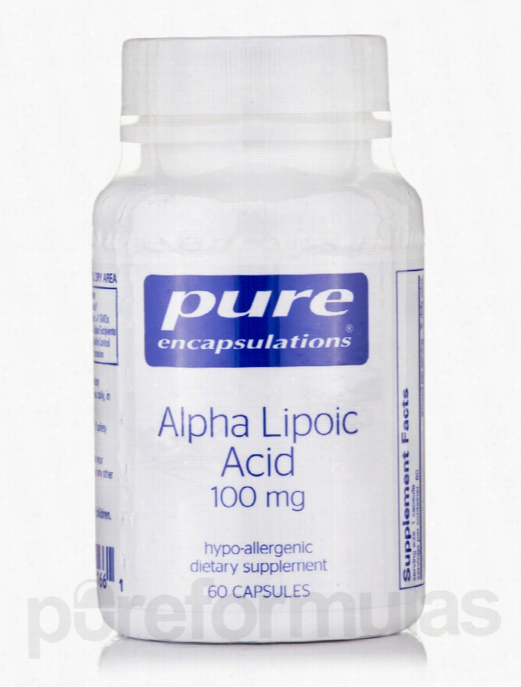 Pure Encapsulations Cellular Support - Alpha Lipoic Acid 100 mg - 60