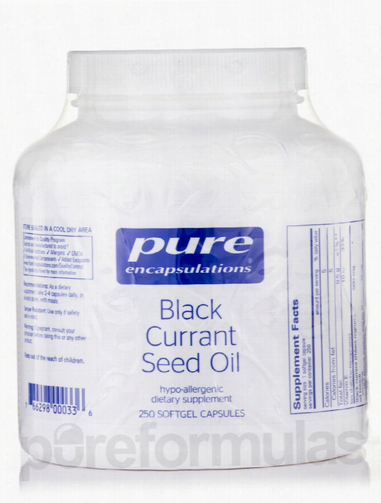 Pure Encapsulations Cellular Support - Black Currant Seed Oil - 250